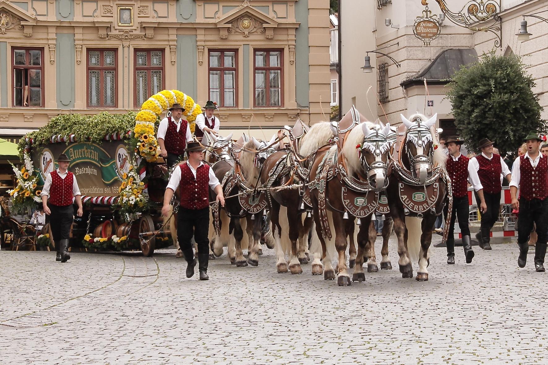 Foto Pferdegespann Auerbräu